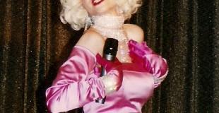 MARINA sosie Marilyn Monroe, imitation