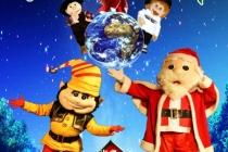 L'affiche du spectacle : Grimlo l'elfe du pere Noël