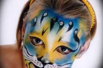 Maquillage artistique en chat
