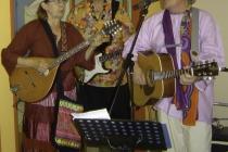 trio flower power hippies BELADONIS