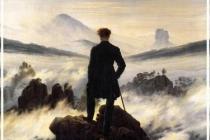 Photo Paysage sentimental (Voyageur contemplant une mer de nuages de Friedrich)