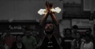jongleur de feu - festival aurillac