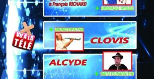 Le plateau d'humoristes Clovis, Alcyde et François RICHARD