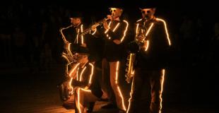 quatuor sax lumineux fanfare saxophone quartet wim percussion