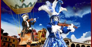 Venezia et Vivaldi en ballon